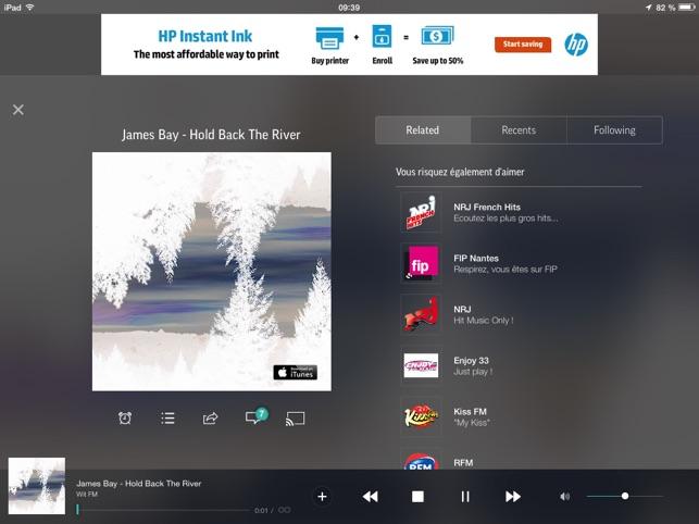 TuneIn Radio Capture d'écran