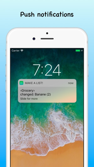 make a list on the app store
