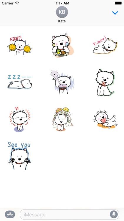 Snow Westie Dog Sticker