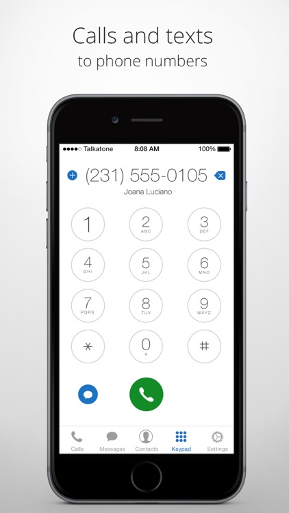 Talkatone: WiFi Text & Calls screenshot-3