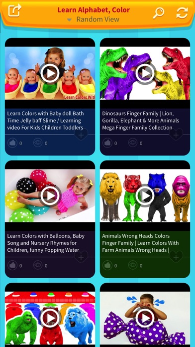 Learn Alphabet, Colors from Nursery Rhymes Song - App