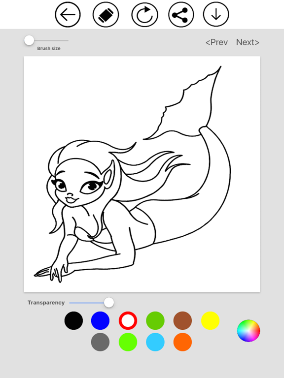 Mermaid Coloring screenshot 7
