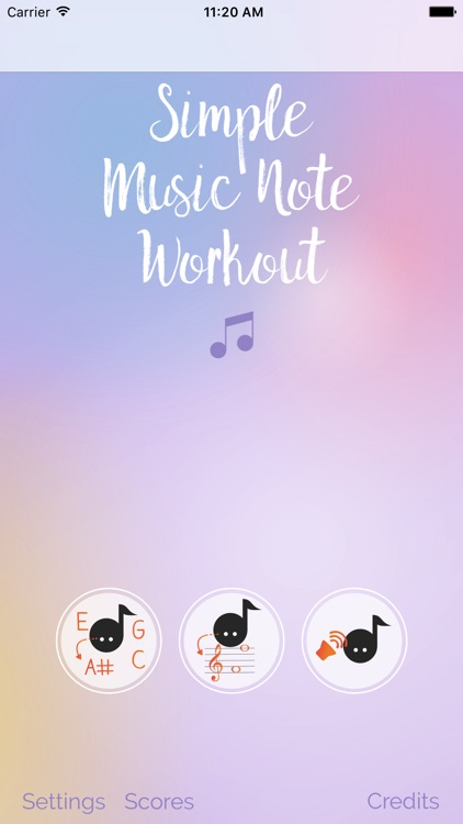Simple Music Note Workout screenshot-0