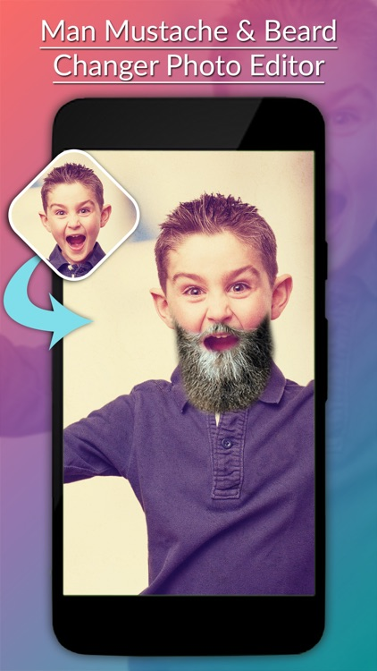 Man Mustache & Beard Photo Editor screenshot-0