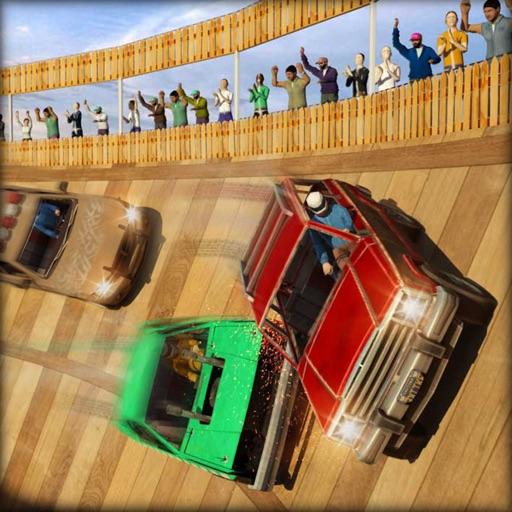 Смерть Что ж снос дерби трюком Машина авария 3D