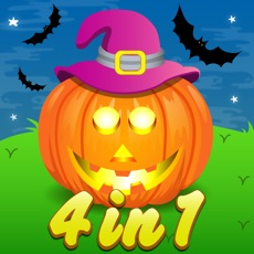 Activities of Four in One Halloween Activity games for Kids