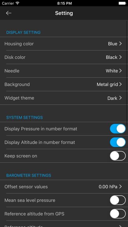 Barometer Plus - Altimeter and Barometer PRO screenshot-3