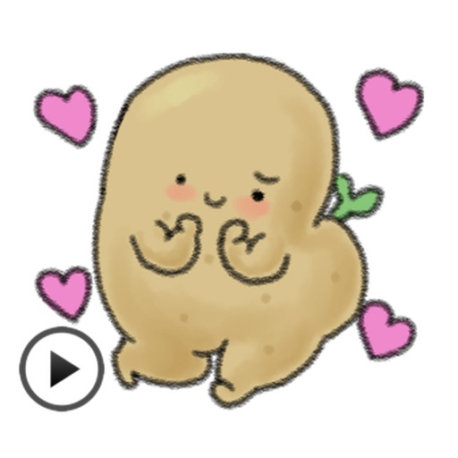 Animation Chubby and Cute Potato Sticker