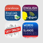 Learning English Series for Thai - Excellent courses lessons with interactive UI