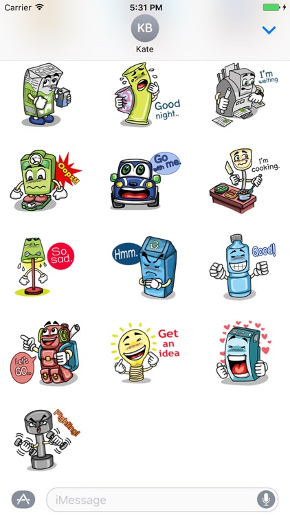 My Talking Things - Cute Emoji Stickers screenshot-3