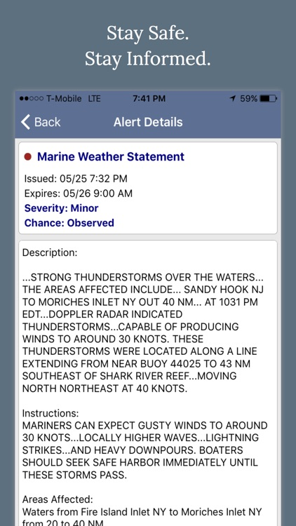 NOAA Marine Weather Forecast Alerts & Warnings screenshot-4