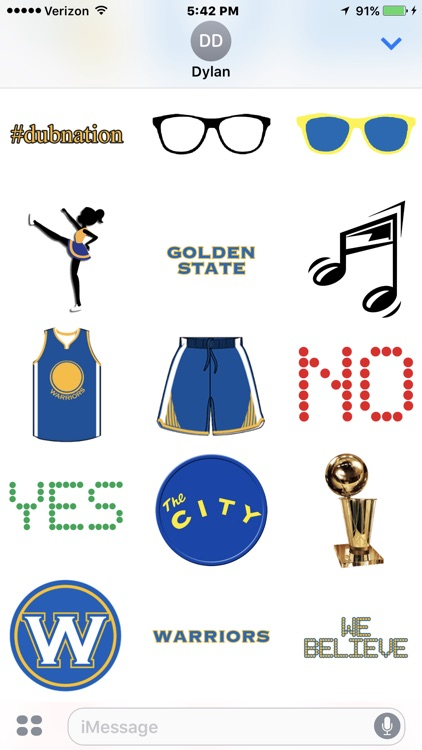 Warriors Basketball Stickers screenshot-3