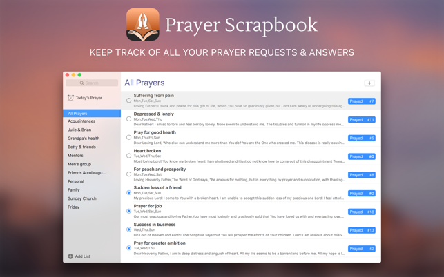 Prayer Scrapbook