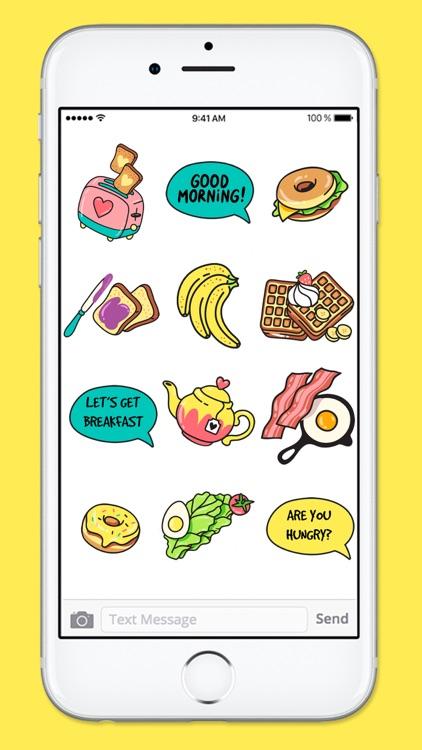 All Day Breakfast Menu Food Stickers