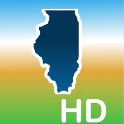 Aqua Map Illinois IL Lakes HD- GPS Nautical Charts