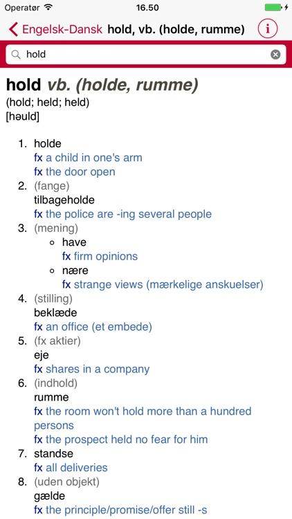 Gyldendal's English Danish Dictionary - Mini screenshot-3