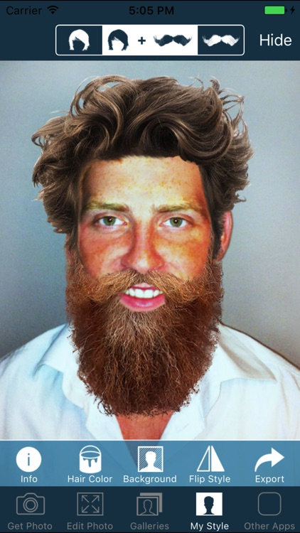 Hair and Beard Styles - Try On Hairstyles for Men screenshot-4
