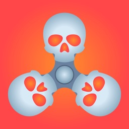 Skull Fidget Spinner Simulator