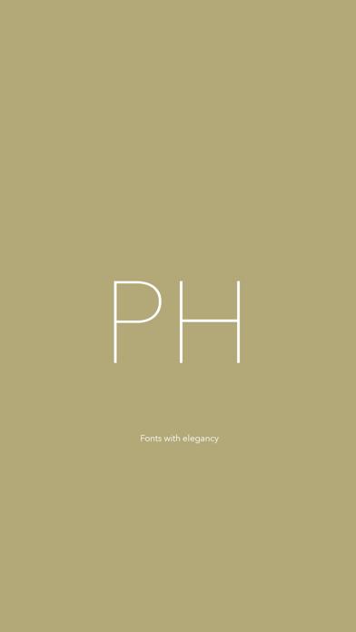 Phont - 新しいフォントを追加することを可能にするフォント管理者 ScreenShot0