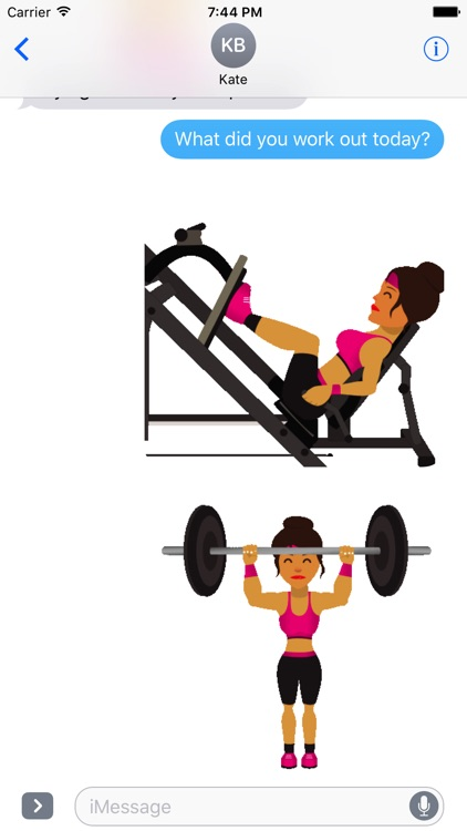 FitGirlMoji -Workout & Gym Emoji Animated Stickers