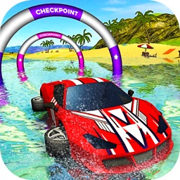 Floating Water Car Driving - Beach Surfing Racing