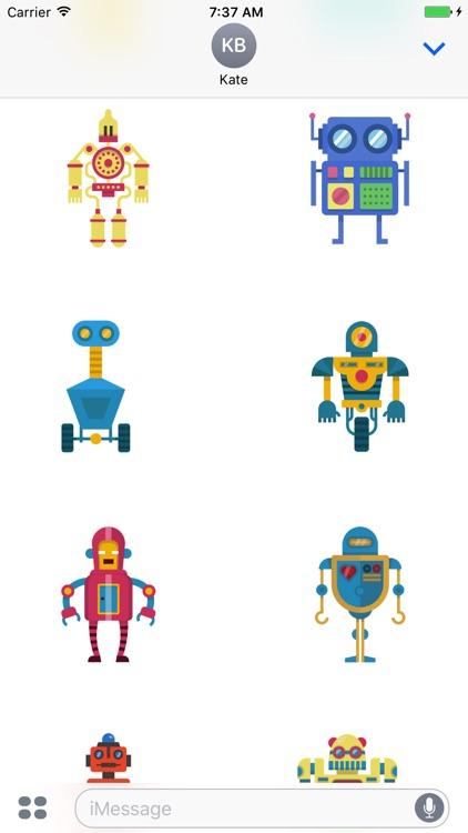 Robots - Cute Colorful Stickers screenshot-3