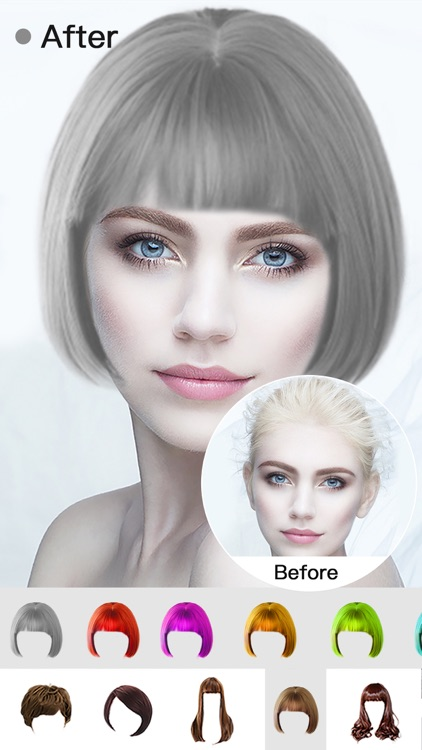 Insta Hair Style Salon-Try On Wig&Face Makeup Edit screenshot-4