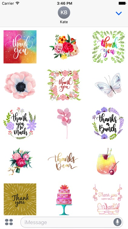 Thank You From the Heart Flowers & Drinks Stickers screenshot-0