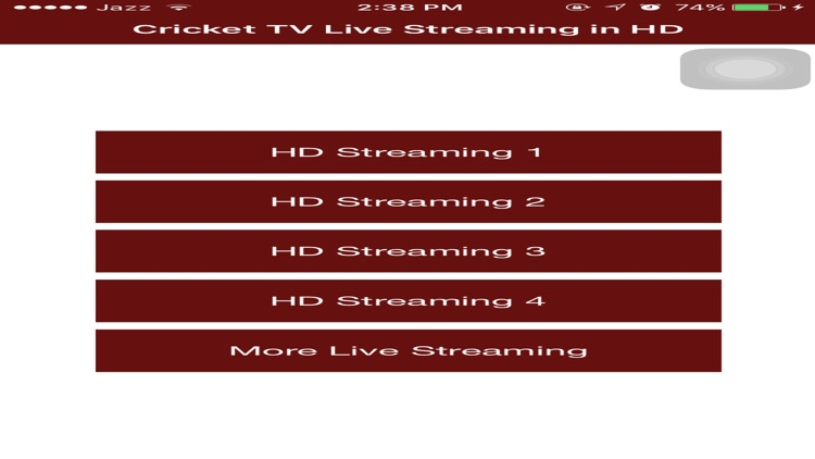 Cricket TV Live Streaming Matches screenshot-0