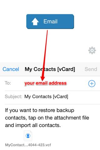 My Contacts Backup Pro screenshot 2