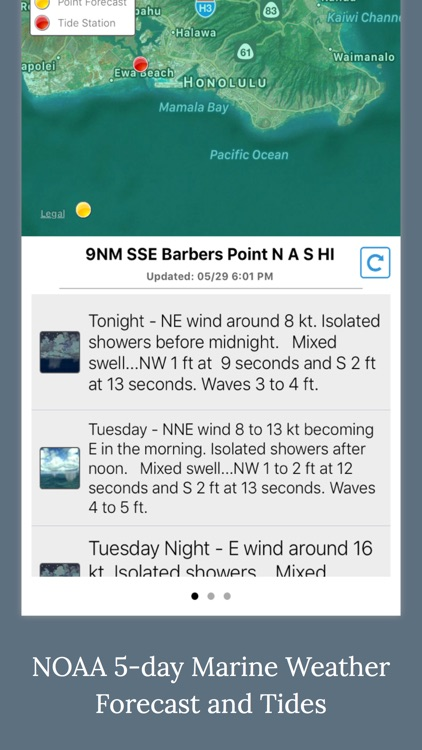 NOAA 5-day Marine Forecast