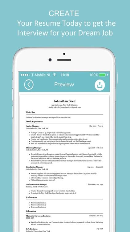 Resume Builder - CV Designer screenshot-3