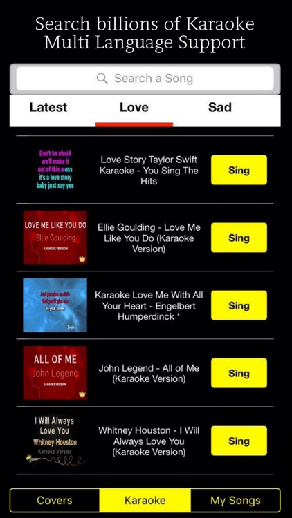Singer! Karaoke Music - Search and Sing screenshot-1