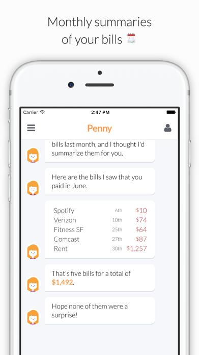 Penny - Track Spending & Bills Screenshot