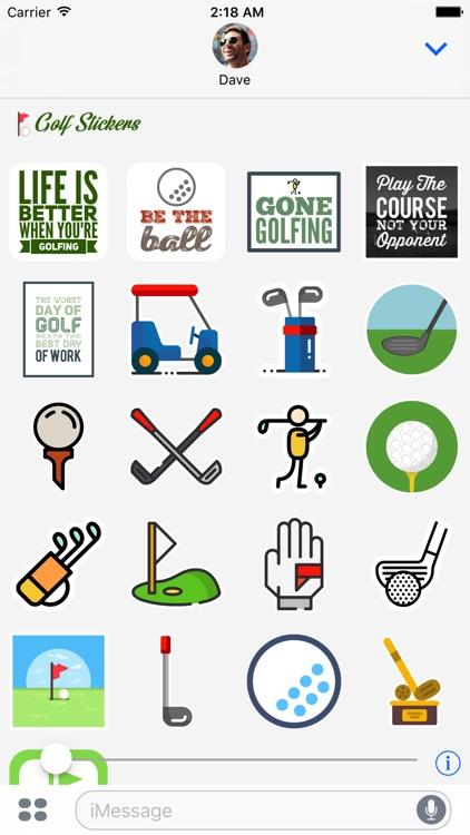 Golf Emoji Stickers for iMessage screenshot-3