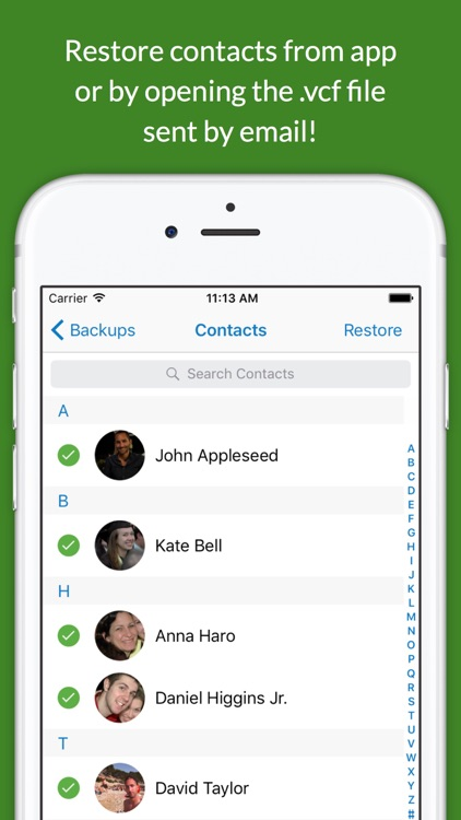 Contacts Backup Easy