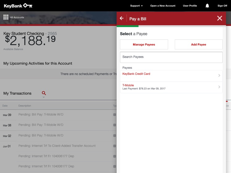 KeyBank App for iPad