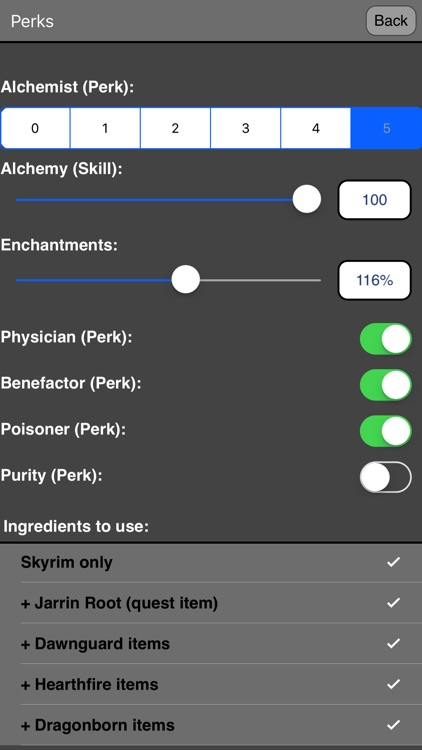 Alchemy for Skyrim ® screenshot-3