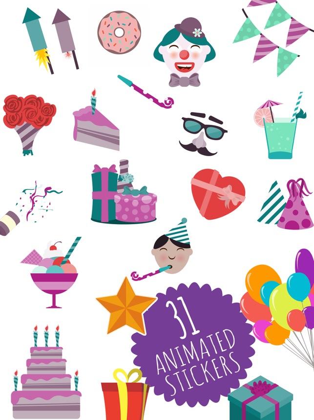 Animated Birthday Stickers And Emoji 17