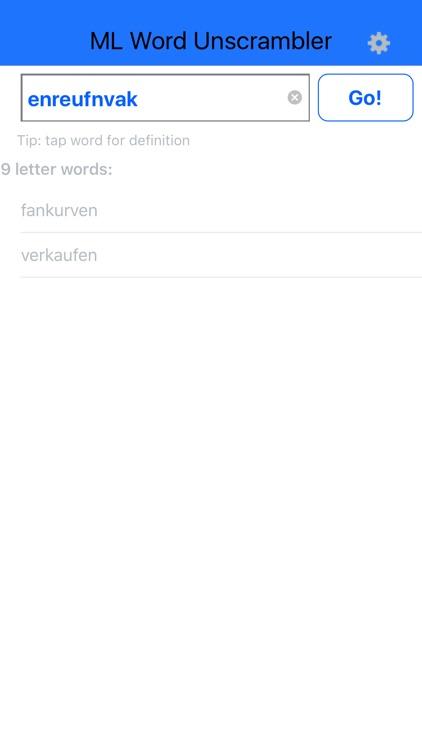Multilingual Word Unscrambler screenshot-3