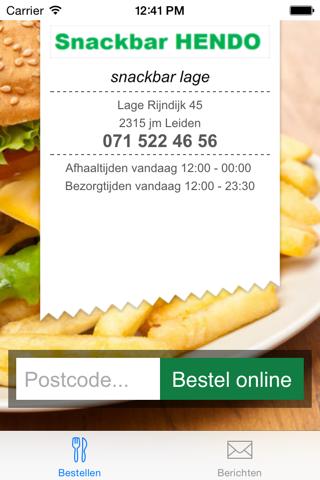 Snackbar Hendo/Lage - náhled