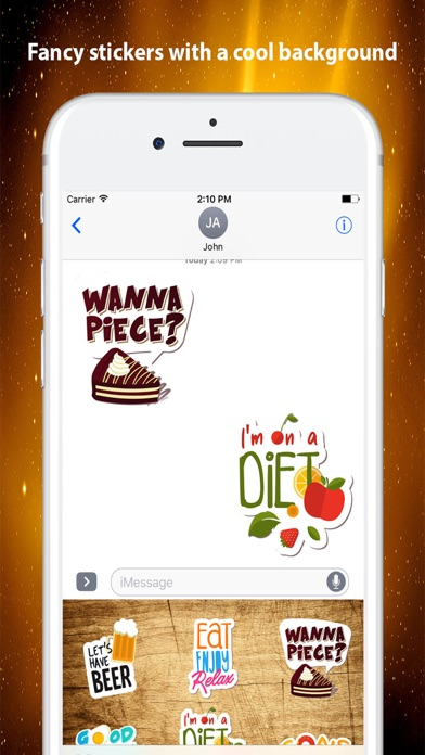 Food Emotions Stickers