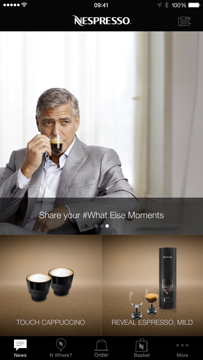 Nespresso Screenshot
