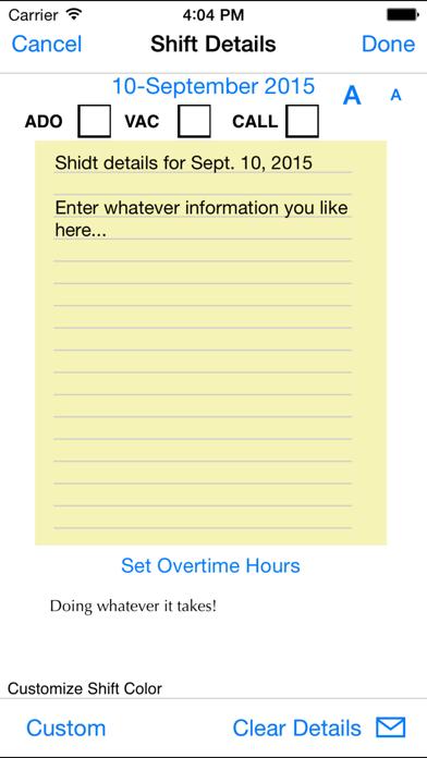 Shift Master Shift Calendar review screenshots
