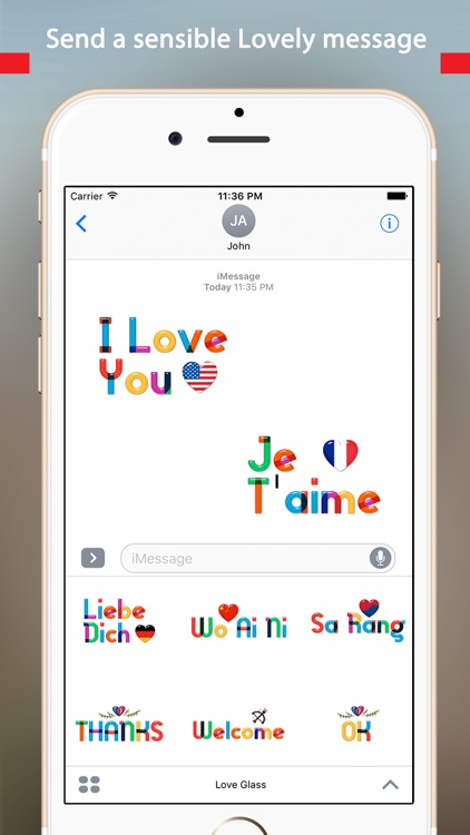 Lovely Colorful Glass Sensitive Word Stickers screenshot-2