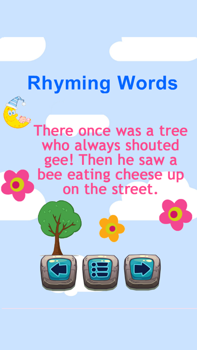 Reading Fun And Easy English Rhyming Words App screenshot one