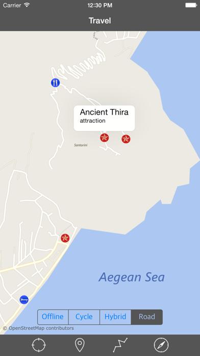 SANTORINI (GREECE) – Travel Map Offline Navigator screenshot two