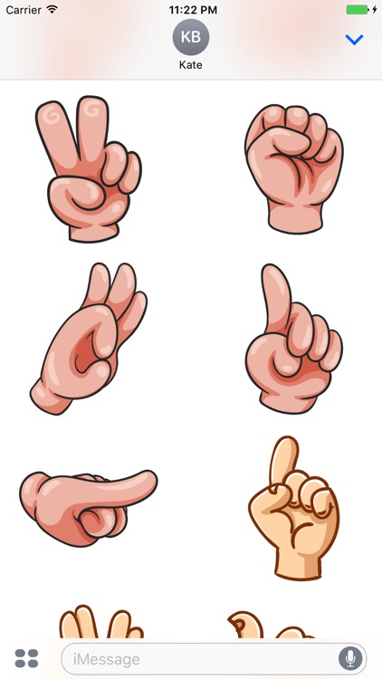 Hand Gestures - Stickers for iMessage