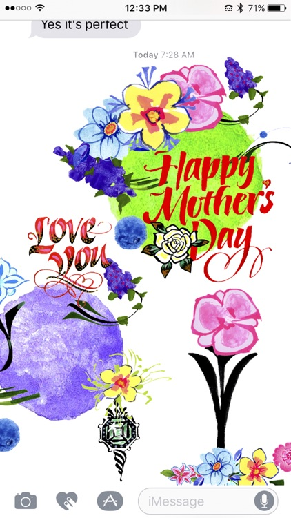 Create Mother's Day with Calligraphic Art