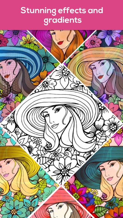 Coloring book for Adult iColor screenshot-3